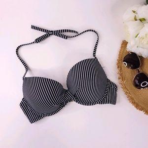 Shade & Shore Stripe Molded Cup Bikini Top 36C